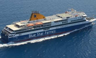 23 Γάλλοι ύποπτοι για κορωνοϊό στο Blue Star Delos