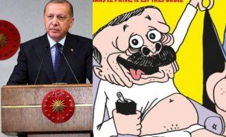 Ο Ερντογάν δήλωσε ότι αρνείται να δει το πρωτοσέλιδο της «Charlie Hebdo»