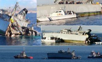 Φορτηγό πλοίο εμβόλισε το ναρκοθηρευτικό «Καλλιστώ» έξω από τον Πειραιά