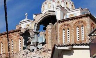 Ισχυρός σεισμός: Η Σάμος άντεξε – Κατέρρευσε ο θόλος της εκκλησίας στο Καρλόβασι