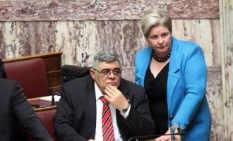 «Κόπηκε» ο διορισμός της γυναίκας του Μιχαλολιάκου ως μετακλητή στη Βουλή