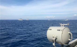 Σε ύψιστη επιφυλακή o Ελληνικός Στόλος για το «Ορούτς Ρέις» – Τα πολεμικά μας σε πλήρη ανάπτυξη (φωτο)