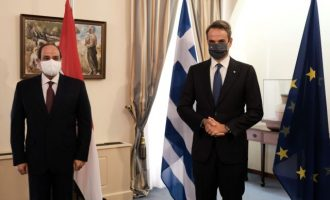 Κοινές διαπιστώσεις Μητσοτάκη και Σίσι απέναντι στην τουρκική απειλή