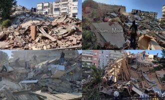 Ισχυρός σεισμός: Εικόνες καταστροφής από τη Σμύρνη (φωτο)