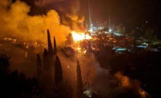 Σάμος: Φωτιά στον καταυλισμό προσφύγων και μεταναστών