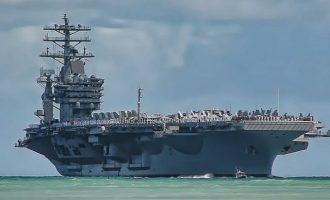 Το Πεντάγωνο απάντησε τι γυρεύει το αεροπλανοφόρο Nimitz στον Κόλπο
