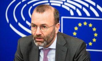 Βέμπερ: Τα λόγια κατά της Τουρκίας να γίνουν πράξεις