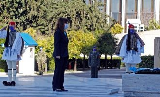 Σακελλαροπούλου: Μήνυμα για την Ημέρα των Ενόπλων Δυνάμεων – Η επιθετικότητα της Τουρκίας έχει ενταθεί