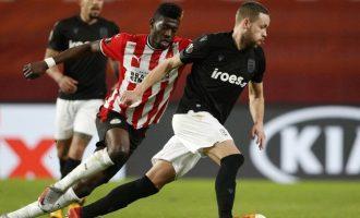 Europa League: Η Αϊντχόφεν με ολική ανατροπή νίκησε τον ΠΑΟΚ 3-2