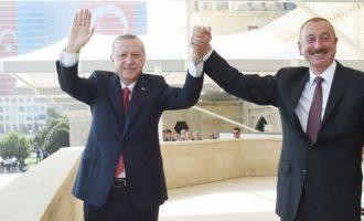 Ο Ερντογάν στο Αζερμπαϊτζάν για να πραγματοποιήσει «θρίαμβο» της νίκης του επί των Αρμενίων