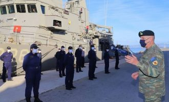 Σε Μονάδες και επιτηρητικά φυλάκια των Ενόπλων Δυνάμεων ο Στρατηγός Φλώρος – «Είμαστε έτοιμοι»