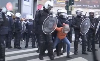 488 προληπτικές προσαγωγές στις Βρυξέλλες για να αποτραπούν διαμαρτυρίες κατά των περιοριστικών μέτρων