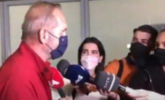 Επέστρεψε από το Ντουμπάι ο Κωστόπουλος – Ένταση με φωνές στο αεροδρόμιο (βιντεο)