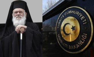 Ο Ιερώνυμος «ενόχλησε» τους Τούρκους – Τι αναφέρει η ανακοίνωση του τουρκικού ΥΠΕΞ