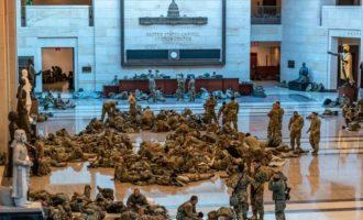 Θετικοί στον κορωνοϊό 100-200 στρατιώτες της Εθνοφρουράς που είχαν αναπτυχθεί στην Ουάσιγκτον