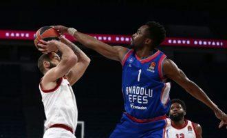 Euroleague: Ανατολού Εφές-Ολυμπιακός 76-53