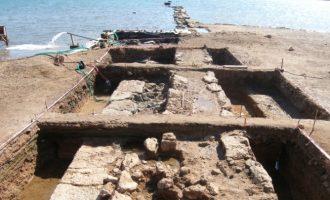 Σαλαμίνα: Σημαντική αρχαιολογική ανακάλυψη – Τμήμα επιθαλάσσιου τείχους της κλασικής πόλης