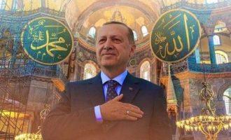 Ο Ερντογάν υποδαυλίζει εξέγερση για απελευθέρωση της Ιερουσαλήμ – Κηρύχθηκε τζιχάντ από την Αγία Σοφία