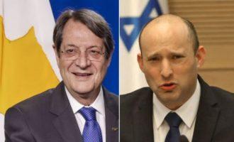 Ο Νίκος Αναστασιάδης συνεχάρη τον νέο πρωθυπουργό του Ισραήλ Ναφτάλι Μπένετ