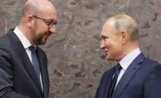 Μισέλ σε Πούτιν: Οι σχέσεις ΕΕ-Ρωσίας βρίσκονται σε χαμηλά επίπεδα