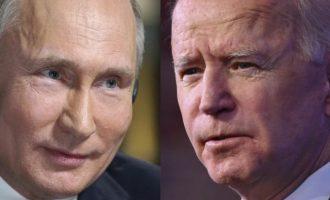 Μείωση της έντασης θα επιδιώξουν Μπάιντεν και Πούτιν