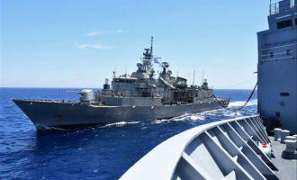Η «Φ/Γ Σαλαμίς» στο πλευρό του «Α/Φ CHARLES DE GAULLE» στη ναυτική επιχείρηση TF-473 στην Αν. Μεσόγειο