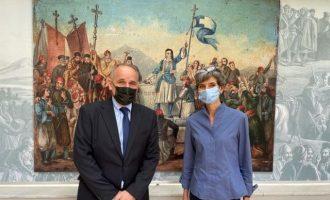 Η Πρέσβης του Ηνωμένου Βασιλείου Κέιτ Σμιθ επισκέφθηκε το Μουσείο Φιλελληνισμού