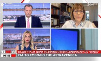 Τι είπε η Μαρία Τσόλια για τα περιστατικά μυοκαρδίτιδας και για το AstraZeneca