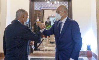 Ο Νίκος Δένδιας στο Κάιρο με τον Άχμεντ Αμπούλ Γκέιτ