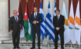 Τριμερής Ελλάδας, Κύπρου και Ιορδανίας στο Ζάππειο – Στο επίκεντρο η Αν. Μεσόγειος