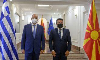 Ο Δένδιας έβαλε στον Ζάεφ όλα τα θέματα και την εφαρμογή της Συμφωνίας των Πρεσπών