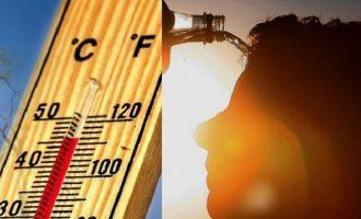 Θερμοκρασία-ρεκόρ 46,3 βαθμούς τη Δευτέρα – Καύσωνας και την Τρίτη