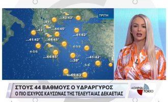 Πάττυ: Ο καύσωνας θα κορυφωθεί μέχρι και την Τετάρτη – Η αίσθηση θα ξεπερνά τους 50°C