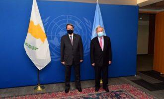 Ο Αναστασιάδης συναντήθηκε με τον Γκουτέρες στον ΟΗΕ