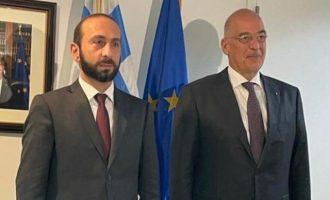 Αρμένιος ΥΠΕΞ σε Δένδια: Η Αρμενία εκτιμά βαθιά τη στήριξη της Ελλάδας – Οι Τούρκοι έφεραν ντρον και τζιχαντιστές