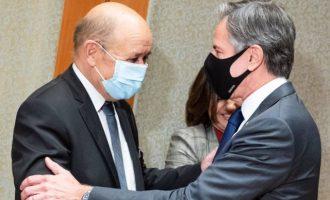 Λε Ντριαν σε Μπλίνκεν: Θα χρειαστεί «χρόνο» και «πράξεις» η έξοδος από την κρίση Γαλλίας-ΗΠΑ