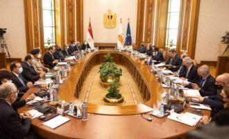 Ιστορική 1η Διακυβερνητική Σύνοδος Κύπρου-Αιγύπτου παρουσία Αναστασιάδη και Αλ Σίσι