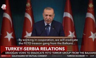 Η Σερβία μετατρέπεται σε τουρκικό προτεκτοράτο και ο Ερντογάν απειλεί ότι θα συλλάβει όλους τους γκιουλενιστές στα Βαλκάνια