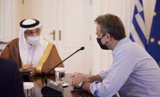 Ο Μητσοτάκης δέχτηκε στο Μαξίμου τον υπουργό Επενδύσεων της Σαουδικής Αραβίας