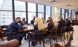 Ο Μητσοτάκης συναντήθηκε με αμερικανοεβραϊκές οργανώσεις στη Νέα Υόρκη